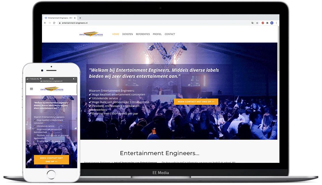 Entertainment Engineers website