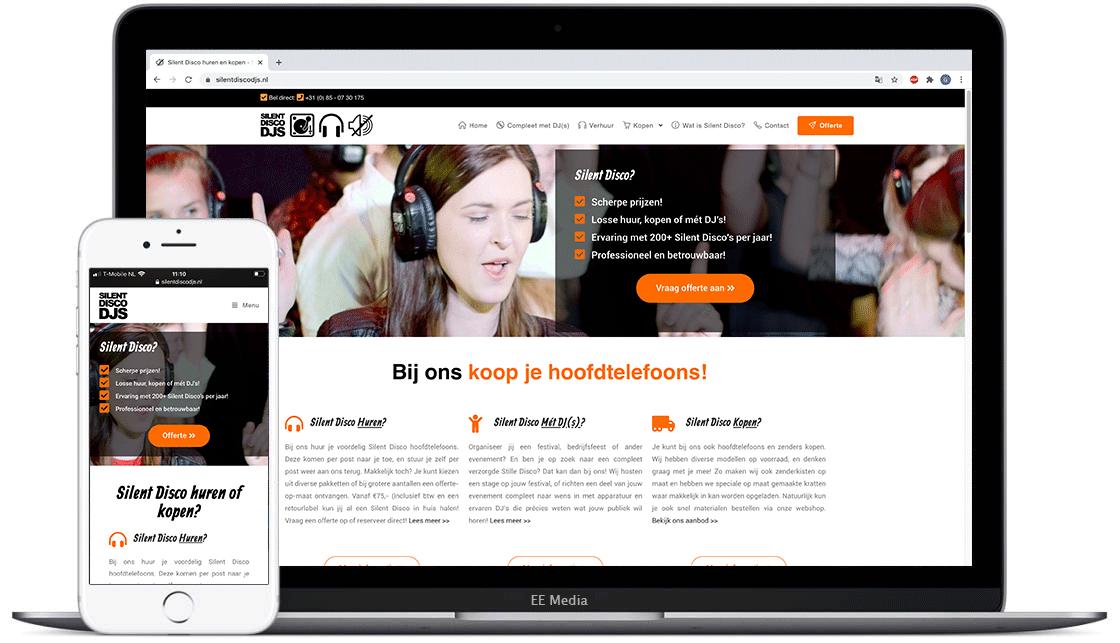 SilentDiscoDJs-website-laten-maken-door-ee-media